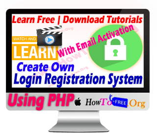 Create PHP Registration and Login System with Email Activation Free Tutorials