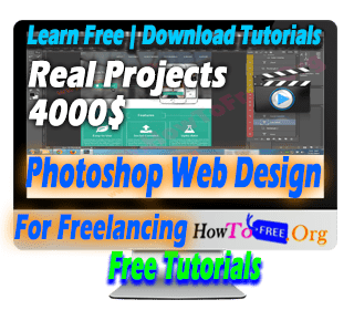 Learn Complete Photoshop Web Design For Freelancing Tutorials For Free