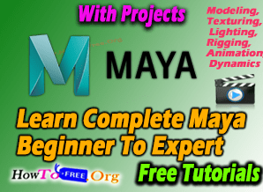 Complete Maya Beginners To Expert 3D Animation Tutorials For Free