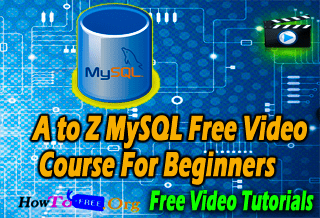Complete MySQL Free Video Course For Beginners