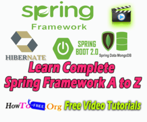 Learn Complete Spring Framework A to Z