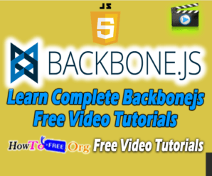 Learn Complete Backbonejs Free Video Tutorials