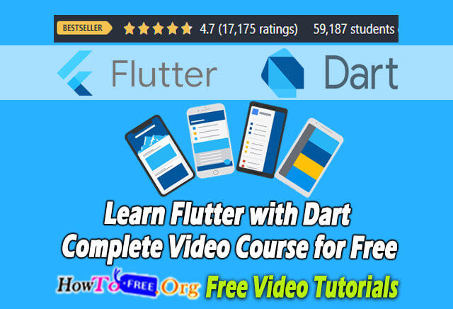Learn Flutter with Dart Complete Video Course for Free