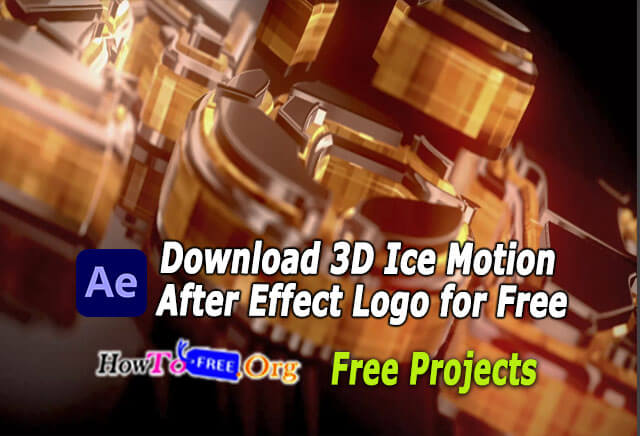 Download 3D Ice Motion After Effect Logo for Free