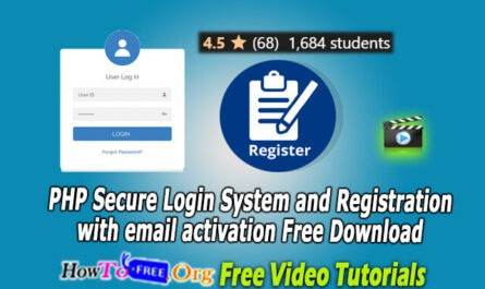PHP Secure Login System and Registration