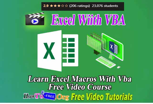 Learn Excel Macros With Vba Free Video Course