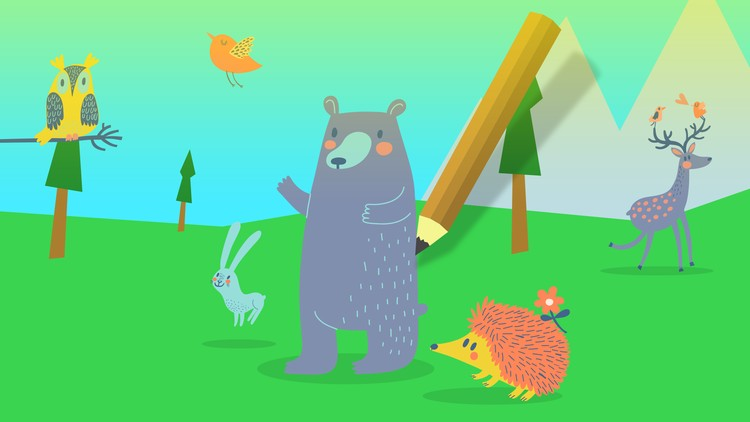 Drawing for Kids: Learn How to Draw 25 Cartoons Step-by-Step Free Course