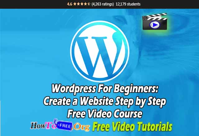 WordPress For Beginners: Create a Website Step by Step Free Video Course Free Download