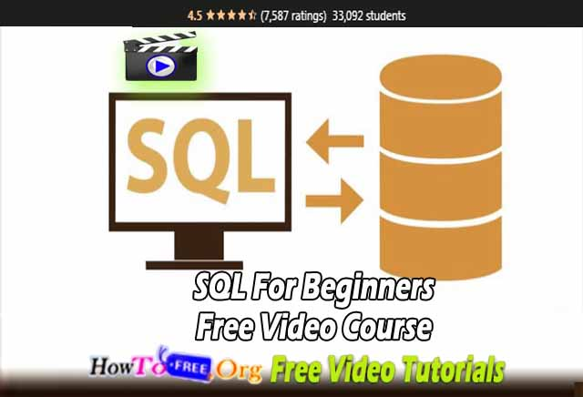 SQL For Beginners Free Video Course