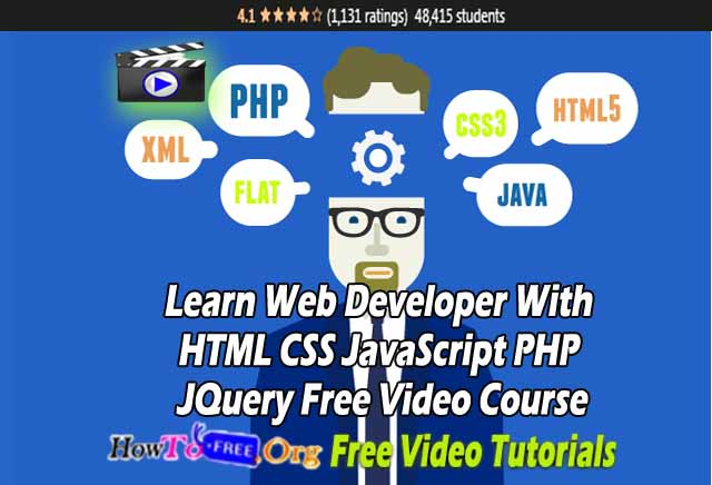 Learn Web Developer With HTML CSS JavaScript PHP JQuery Free Video Course