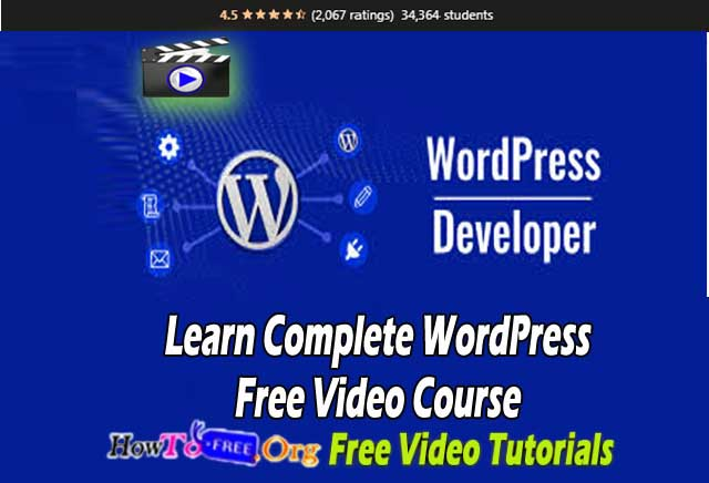 Learn Complete WordPress Free Video Course Free Download