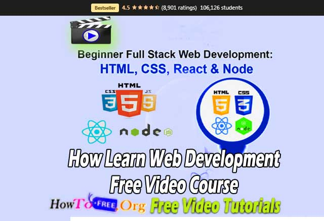 How Learn Web Development Free Video Course