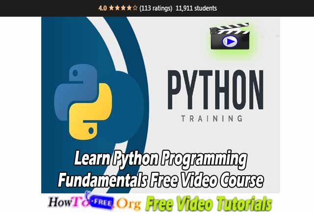 Learn Python Programming Fundamentals Free Video Course