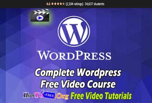 Complete WordPress Free Video Course Free Download