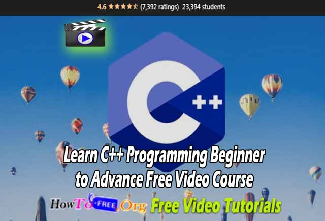 Learn C++ Programming Beginner to Advance Free Video Course
