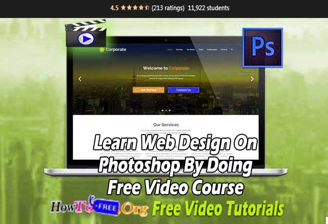Learn Web Design On Photoshop By Doing Free Video Course