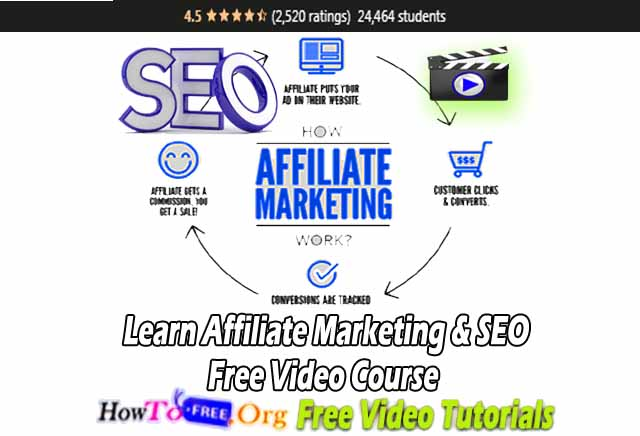 Learn Affiliate Marketing & SEO  Free Video Course