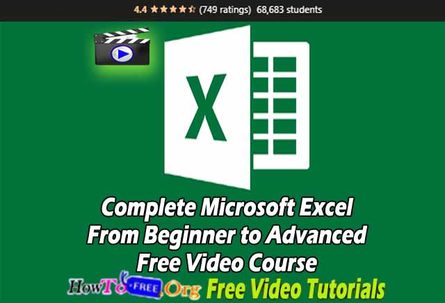 Complete Microsoft Excel From Beginner to Advanced Free Video Course