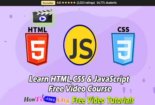 Learn HTML,CSS & JavaScript Free Video Course