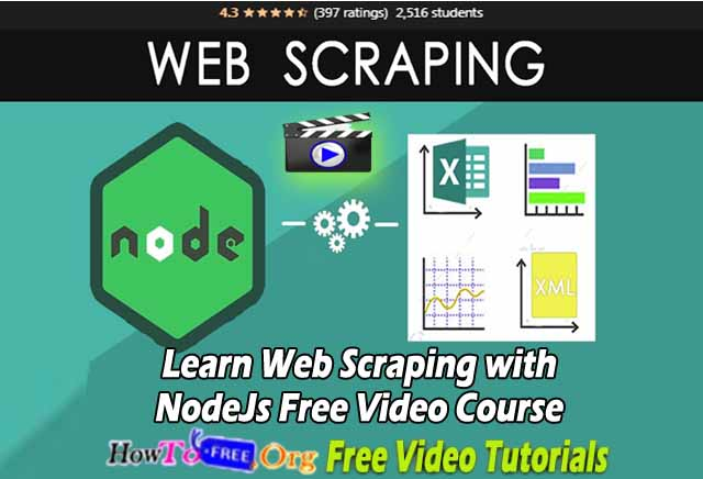 Learn Web Scraping with NodeJs Free Video Course