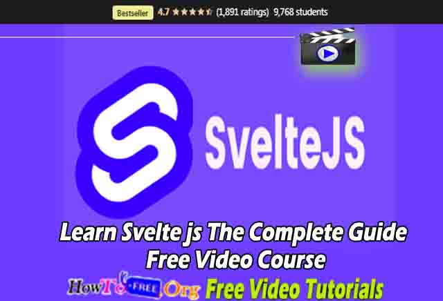 Learn Svelte js The Complete Guide Free Video Course