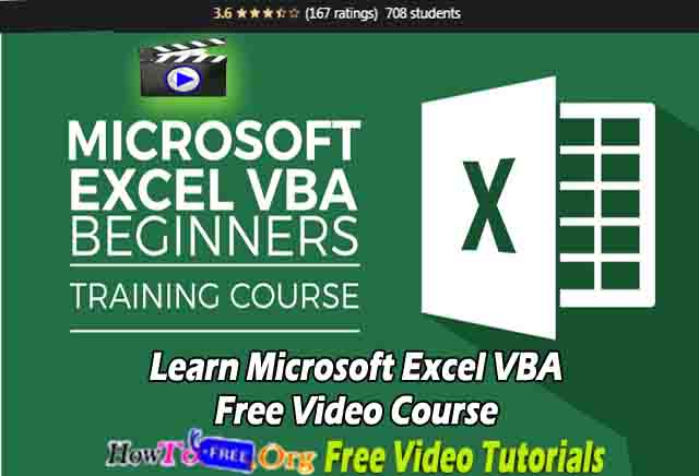 Learn Microsoft Excel VBA Free Video Course