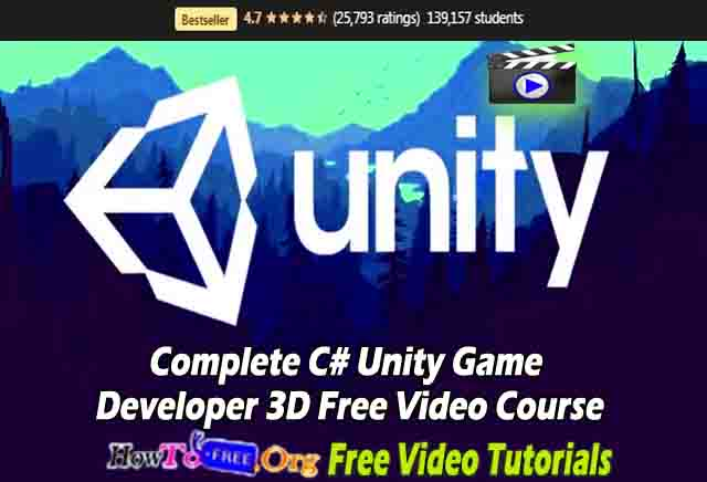 Complete C# Unity Game Developer 3D Free Video Course