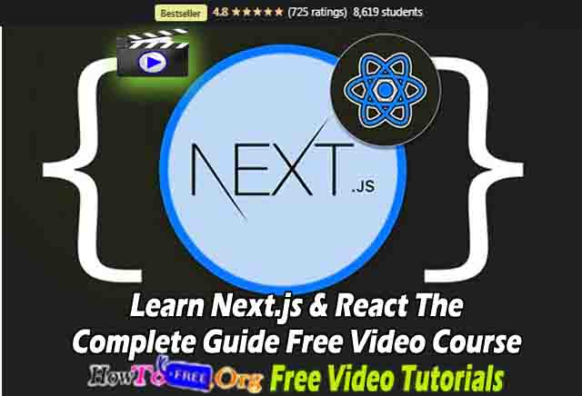 Learn Nextjs & React The Complete Guide Free Video Course
