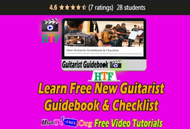 Learn Free New Guitarist Guidebook & Checklist