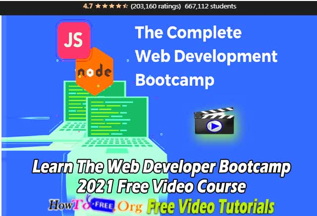 Learn The Web Developer Bootcamp 2021 Free Video Course