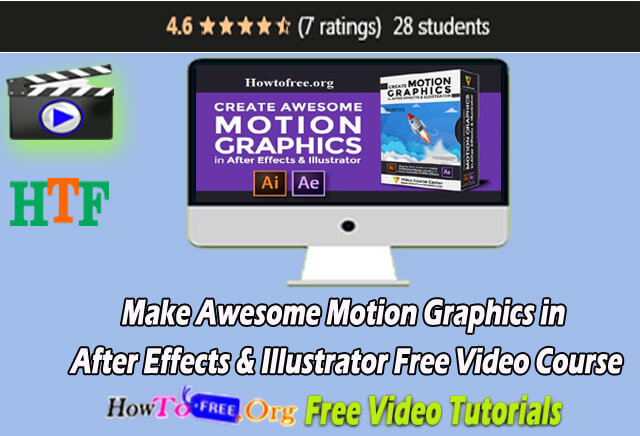 Learn and Make Awesome Motion Graphics in After Effects & Illustrator Free Video Course