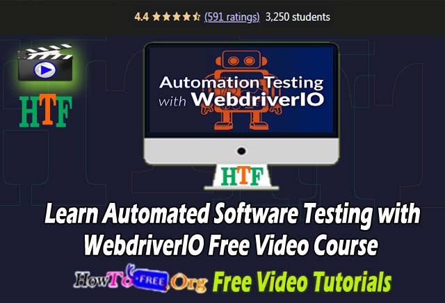 Learn Automated Software Testing with Web driver IO Free Video Course