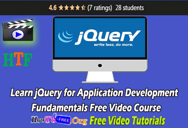 Learn j Query for Application Development  Fundamentals Free Video Course