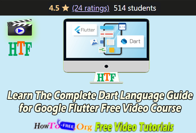 Learn The Complete Dart Language Guide for Google Flutter  Dart Free Video Course